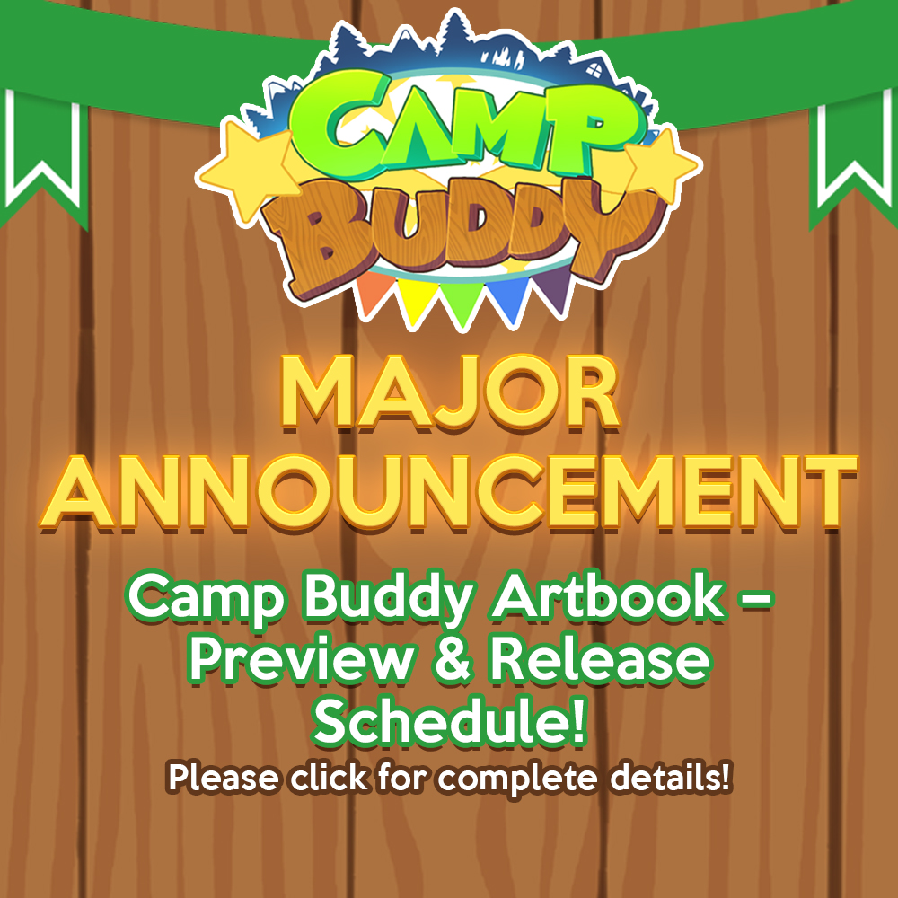 Camp Buddy Artbook – Preview & Digital Release Schedule!