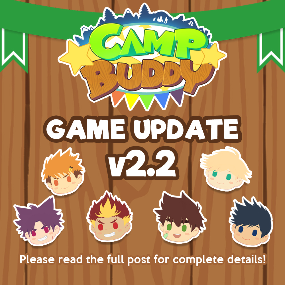 Camp Buddy Patch 2.2 Launched & Sale!