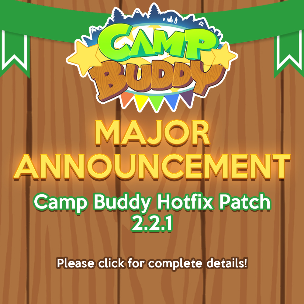 Camp Buddy Hotfix Patch 2.2.1