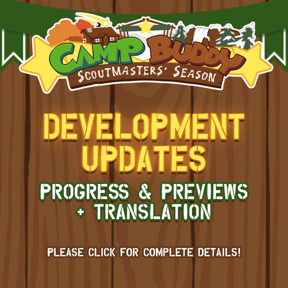 Scoutmaster's Season Development & Camp Buddy Translation Updates