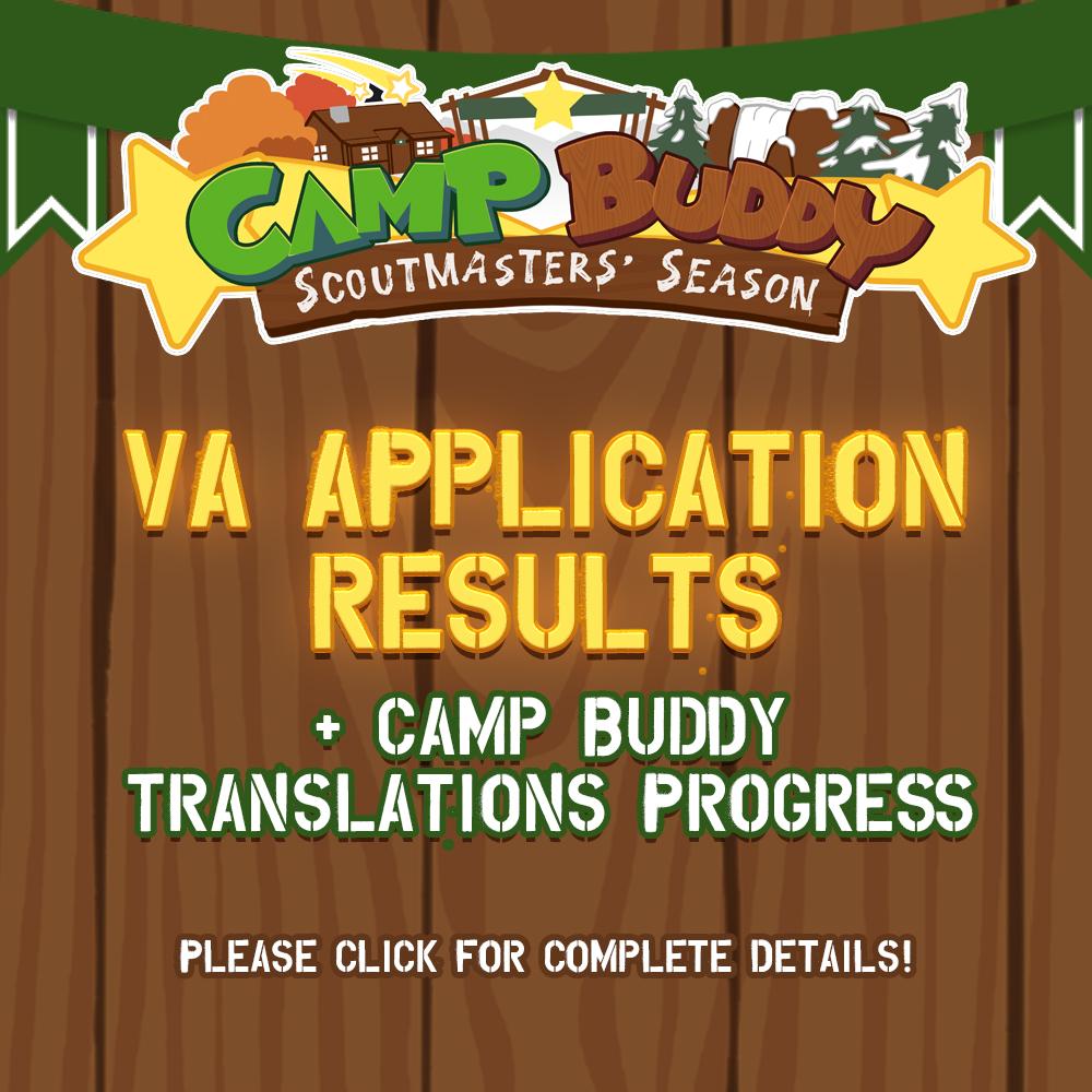 Development Update – VA Application Results & Translations!